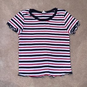 Stripped Cropped T-Shirt